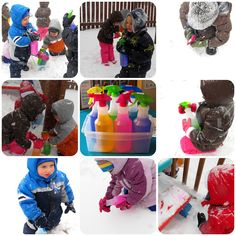 Snowy Day Spray Painting » Things to Share and Remember