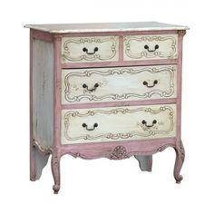 Isabella 4 Drawer Chest in Pink - Casafina