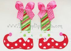 Christmas Elf Shoes Embroidery Design Machine by theappliquediva, $2.99