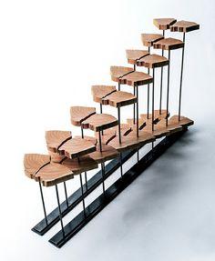 futuristische Holz Skulptur minimalistischen Stil Design
