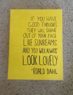 Roald Dahl Canvas Quote Art by QuotesOfNote on Etsy, $17.00