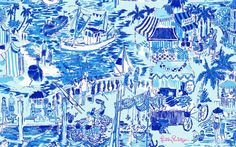 Lilly Pulitzer -- catch of the day aquamarine.