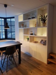 Home Room Design, Popular Kitchen Designs, Crockery Unit Design, Happy New Home, Living Room Storage Wall, Modern Home Offices, Minimalist Living Room, House Rooms, Closet Designs