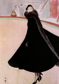 """simplymagdorable: """" Jacques Fath, illustration Rene Gruau, 1948 """""""