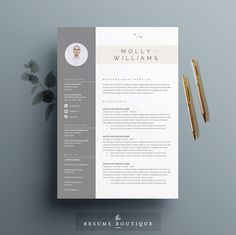 Resume Template and Cover Letter Template for Word | DIY Printable 3 Pack | The Minerva | Professional and Creative Design by TheResumeBoutique on Etsy https://www.etsy.com/listing/212490114/resume-template-and-cover-letter