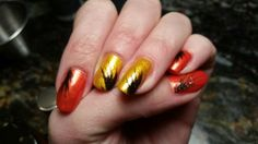 Bright sunny nail art!