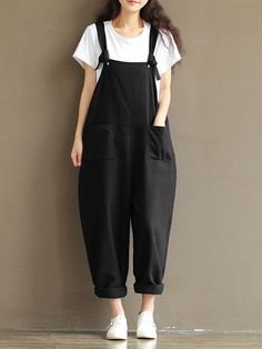 79e486246d1c 2017 ZANZEA Rompers Womens Jumpsuits Casual Vintage Sleeveless Backless  Casual Loose Solid Overalls Strapless Paysuits Plus Size