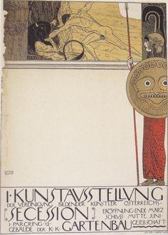 Cartaz de Klimt, feito para a primeira exposição da Secessão