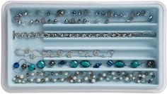 Jewelry Stax - Necklace Organizer, Light Blue - free shipping | The Organizing Store
