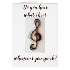 """""""YOUR VOICE IS MUSIC TO MY EARS"""" LOVING YOU CARD - christmas cards merry xmas diy cyo greetings"""