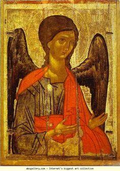 Archangel Michael.  14th century. 86 x 63 cm. From Novgorod.