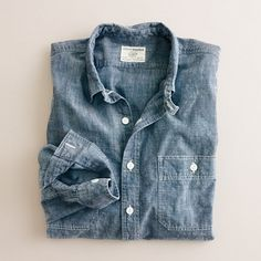 A shirt for a bad ass on a mountain: Selvedge chambray utility shirt