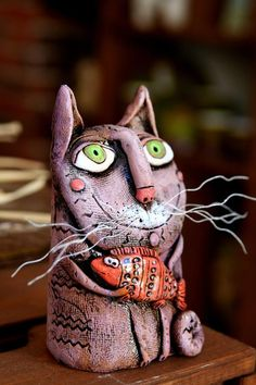Your place to buy and sell all things handmade Sculpture Ideas, Sculpture Art, Sculptures, Boy Cat, Handmade Ceramic, Decoration, Pottery Art, Funny Cats, Whimsical