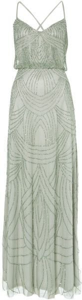 ADRIANNA PAPELL Silver Deco Beaded Dress Adrianna papell deco beaded dress. Maxi dresses. Embellished. Maxi. V-neck collar. Sleeveless.. jaglady