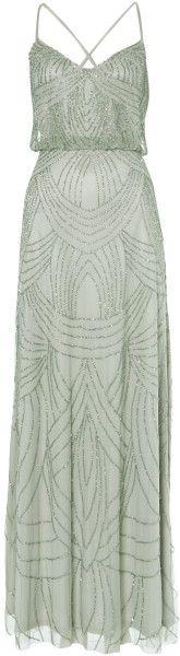 ADRIANNA PAPELL Silver Deco Beaded Dress Adrianna papell deco beaded dress. Maxi dresses. Embellished. Maxi. V-neck collar. Sleeveless.. jaglady