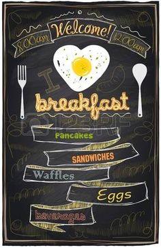 Chalk breakfast menu. I love breakfast. photo