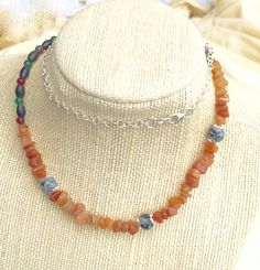 Wave hello to this awesome Peach Aventurine Necklace with Gemstone Chips and Snowflake Obsidian, Boho Necklace https://www.etsy.com/listing/455587562/peach-aventurine-necklace-with-gemstone?utm_source=crowdfire&utm_medium=api&utm_campaign=api
