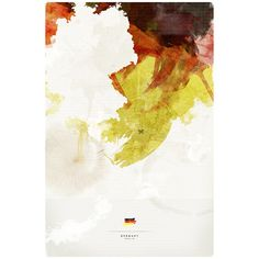 Germany Art Print by Jerod Gibson Society6 ❤ liked on Polyvore
