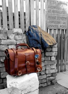 Chestnut Leather Briefcase by the Saddleback Leather Co. Classic Leather, Vintage Leather, Leather Men, Leather Bags, Saddleback Leather, Leather Briefcase, Red Wing Boots, Sack Bag, Leather Pieces