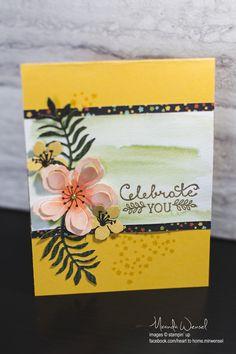 Heart to Home | Stampin' Up Botanical Gardens DSP + Botanical Blooms Photopolymer Stamp set + Botanical Builders Framelits + Watercolor Paper + Gold Embossing Powder + Suite Sayings Stamp set