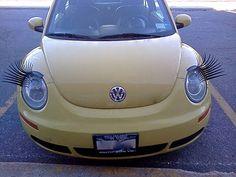 omg these eyelashes! Waterworks, Ladybug, Eyelashes, Vehicles, Awesome, Car, Lashes, Automobile, Ladybugs