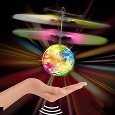 Other Radio Control & RC Toys Hand Flying Ball Infrared Induction Flash Colorful Led Disco Rc Helicopter Toy Remote Control Toys, Radio Control, Tech Toys, Best Kids Toys, Children Toys, Led Licht, Rc Drone, Drone Copter, Drone Diy