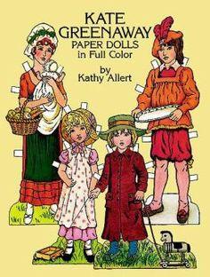Kate Greenaway Paper Dolls In Full Color by Kathy Allert ...