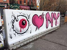"""Buff Monster """"I Love New York"""" graffiti-art mural - NewYorkCityFeelings"""