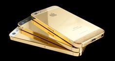 Gold iPhone 5   iPhone 5   Gold Plated iPhones 5 Collection