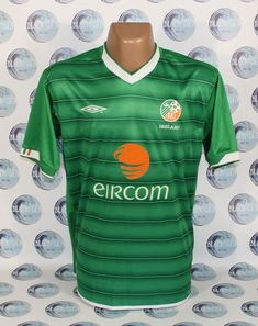 REPUBLIC OF IRELAND NATIONAL TEAM 2003 2004 HOME FOOTBALL SOCCER SHIRT JERSEY L  #UMBRO #REPUBLICOFIRELAND