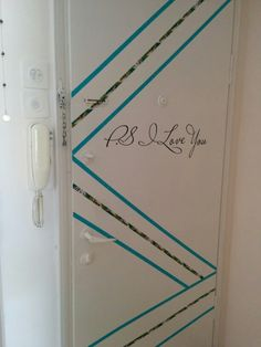 Washi Tape Door Design DIY