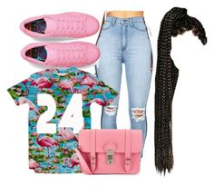 """""""Pink"""" by s0-childish ❤ liked on Polyvore featuring adidas, CO, Grafea, women's clothing, women's fashion, women, female, woman, misses and juniors"""