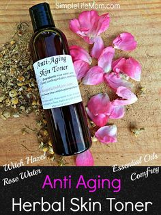 Anti-Aging Skin Toner - Natural astringent with rose water, witch hazel, an herbal infusion and essential oils by SimpleLifeMom on Etsy Anti Aging Serum, Anti Aging Tips, Best Anti Aging, Anti Aging Skin Care, Skin Toner, Facial Toner, Facial Serum, Facial Care, Natural Toner