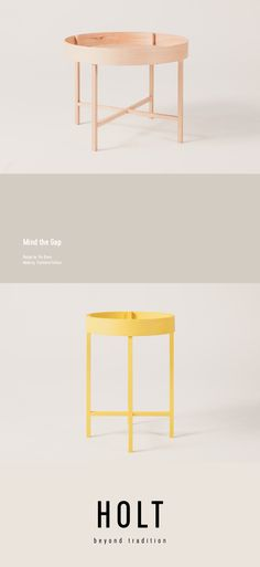 Mind the Gap - minimal side table by Rui Alves produced by Tischlerei Fellner for HOLT beyond tradition Austria. Mind The Gap, Outdoor Furniture, Outdoor Decor, Austria, Minimalism, Mindfulness, Traditional, Table, Design