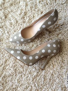 Grey Polka Dot Pumps