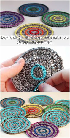 Crochet Roller Coasters – Free Pattern 25 Crochet Coasters Free Patterns To Party It Up With CozyCrochet Flower Coasters The Best IdeasFree crochet pattern for crochet flower motifs, to… Crochet Coaster Pattern, Crochet Motifs, Crochet Poncho, Love Crochet, Crochet Gifts, Crochet Granny, Crochet Stitches, Ravelry Crochet, Freeform Crochet