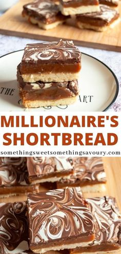 How to make perfect Millionaire's Shortbread! With a buttery shortbread base, soft caramel and a thick chocolate topping, it's impossible to resist! #millionairesshortbreadrecipe #millionairesshortbread Fall Dessert Recipes, Sweet Desserts, Easy Desserts, Delicious Desserts, Yummy Food, Dinner Recipes, Chocolate Topping, Chocolate Desserts, Mars Bar Crispy Cake