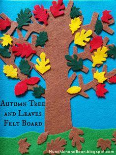 Autumn Tree and Leaves Felt Board