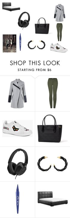 """Brain: stop it. Heart: i cant"" by nadaanja ❤ liked on Polyvore featuring 2LUV, Boohoo, Skullcandy, Aurélie Bidermann, Maybelline and Zuo"