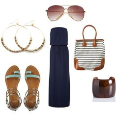 day at the beach, created by mcgrae0 on Polyvore