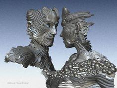 Gil Buvel #Sculpture | gil bruvel escultura aço metal fluxo de energia