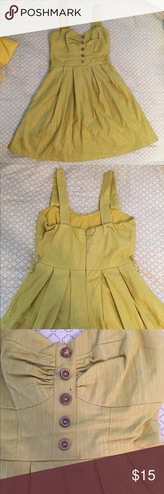 Charlotte Russe olive green dress Size small, olive green dress. There are a few marks on the dress. Could possibly be removed by dry cleaning. Charlotte Russe Dresses Midi
