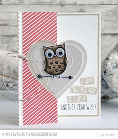 Handmade card from Inge Groot featuring Flop Card - Heart Die-namics #mftstamps