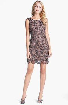 FLAPPER CHARLESTON GREAT GATSBY Dress SIZE 8 10 12 14 16 18 BNWT mesh SCALLOPED
