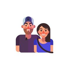 ...That #etsy portrait commission I was talking about earlier. What a cute couple! Want one? apluschurch.etsy.com . . #design #portrait #illustration #vector #vectorart #vectorportrait #couple #cutecouple #love #customorder #freelance #entrepreneur #freelanceillustrator #illustrator #artistsofig #hireme #graphicdesigner #follow #love