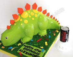 Celebrate with Cake!: Cute Stegosaurus Cake