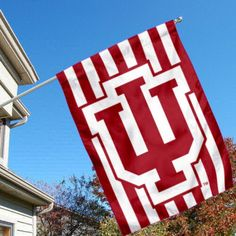 Indiana Hoosiers Candy Stripe House Flag