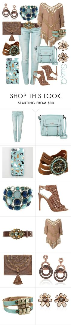 """Mint Green Skinny Jeans"" by polyvore-suzyq ❤ liked on Polyvore featuring Benetton, Jessica Simpson, Leatherock, Fantasy Jewelry Box, Alexandre Birman, Izabel London, Patricia Nash, Suzy Levian and Bronia"
