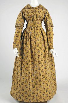 1840 British cotton dress, Metropolitan Museum of Art