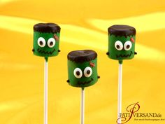 Gruselige Frankenstein Cake-Pops kommen an Halloween gut an und das Rezept ist kinderleicht.  Überzeugt euch selbst! :)  #pativersand #halloween #cakepops #frankenstein #patirezepte  http://www.pati-versand.de/rezepte/cake-pops/frankenstein-cake-pops